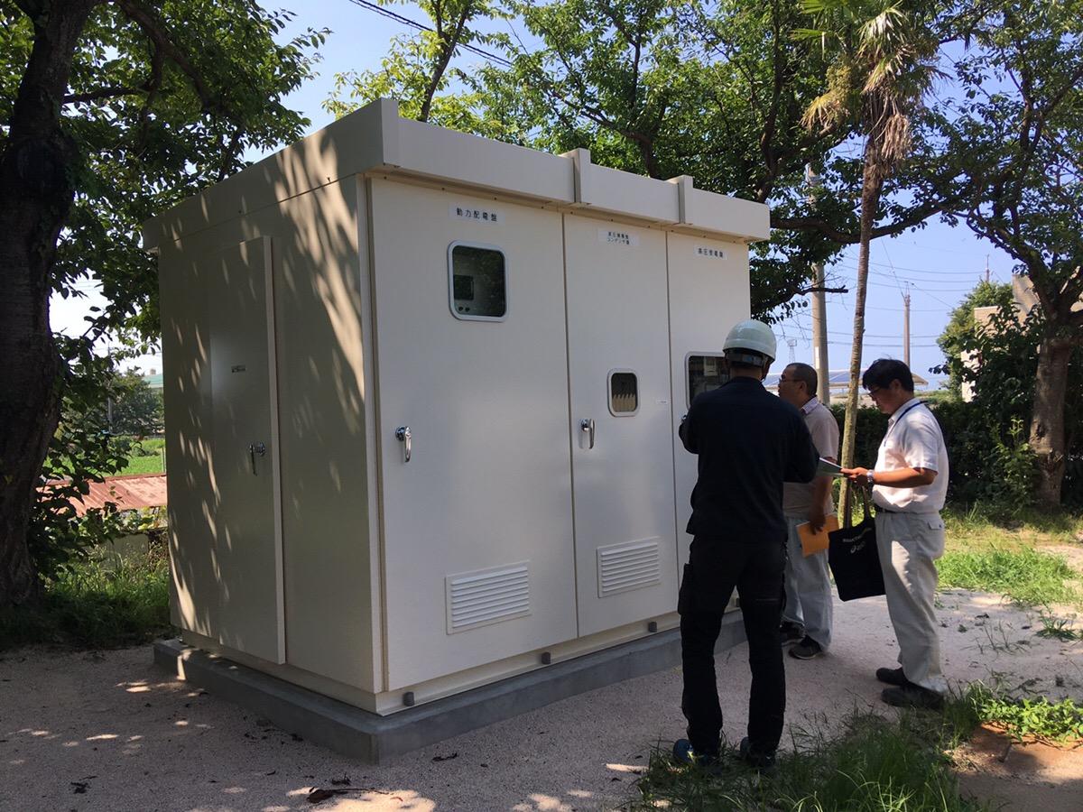 工事件名:箕蚊屋中学校空調設備設置電気設備工事 完成検査