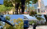 一般社団法人 鳥取県電業協会西部支部 令和元年度米子駅前・公会堂前活性化ボランティア活動 イルミネーション取付